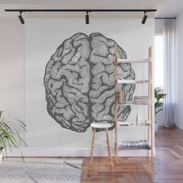 Brain vintage illustration Wall Mural