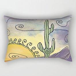 Sacred Saguaro Rectangular Pillow
