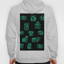 Cameras: Teal - pop art illustration Hoody