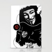 vendetta Stationery Cards featuring Vendetta by Facey Artist