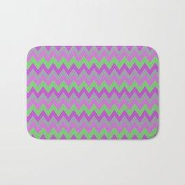 pink purple and green chevron Bath Mat