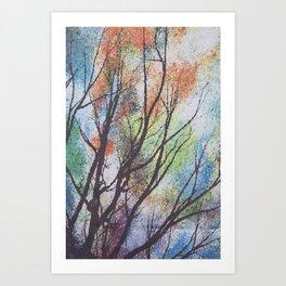 watercolor trees Art Print