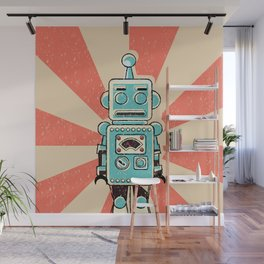 Retro Robot Wall Mural