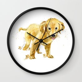 Happy Pup Wall Clock