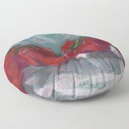 Red Bell Peppers, Paprika Pepper, Vegetable Food Art Floor Pillow