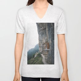 Carved into the Mountains. Unisex V-Neck