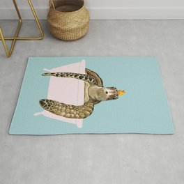 Sea Turtle in Bathtub Rug