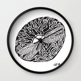 Dragonfly Design Wall Clock