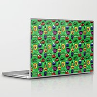 sesame street Laptop & iPad Skins featuring Sesame Street Pattern by MOONGUTS (Kyle Coughlin)