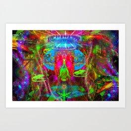 Paleo Scream Invocation Art Print