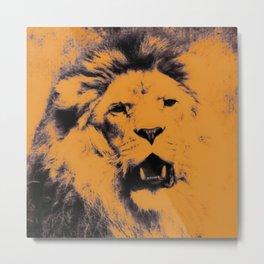 Lion Pop Art Metal Print