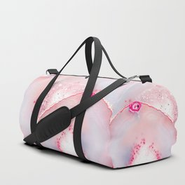 Pink Dreamy Rose Blush Agate Duffle Bag