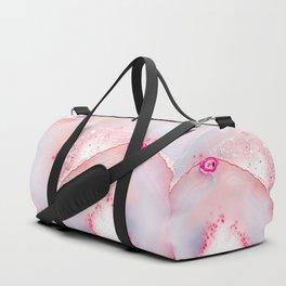 Pink Dreamy Rose Blush Agate Duffle Bag
