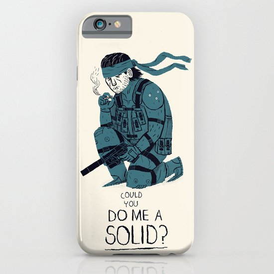 do me a solid. iPhone & iPod Case by Louis Roskosch