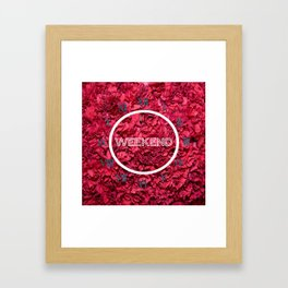 clock week end flower Framed Art Print