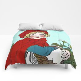 Little Red Riding Hood Painting Comforters