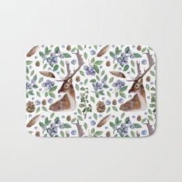 Woodland watercolor pattern #s8 Bath Mat