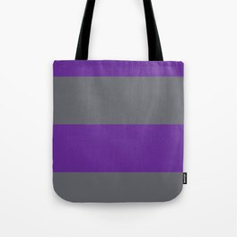 gray and purple horizontal stripes Tote Bag