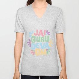 Jai Guru Deva Om (Soft) Unisex V-Neck
