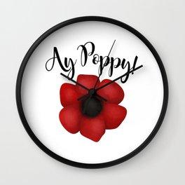 Ay Poppy! Wall Clock