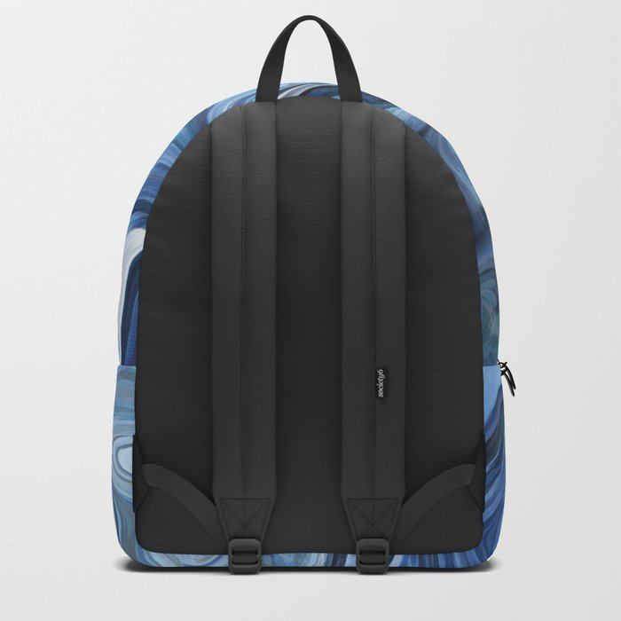Marble texture print Backpack