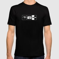 I Photograph Black and White Mens Fitted Tee Black MEDIUM