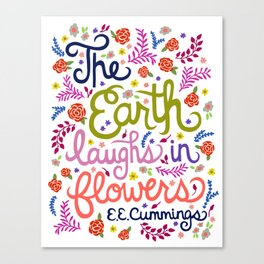 E.E.Cummings Quote Illustration.  Canvas Print