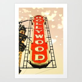 Portland Hollywood Theatre Red Art Print