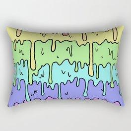 Pastel Kawaii Melting Rainbow Design Rectangular Pillow