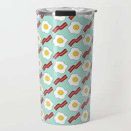Eggs and Bacon - Hand-drawn Breakfast Pattern Travel Mug