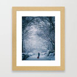 Blizzard in the City Framed Art Print
