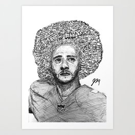 Black7ivesMatter Art Print