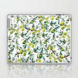 Lime Tree Branch Pattern Watercolor Laptop & iPad Skin