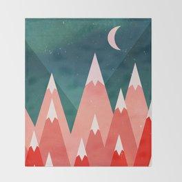 Tritanopia Mountains Throw Blanket