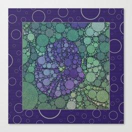 Percolated Purple Potato Flower Reboot  Canvas Print