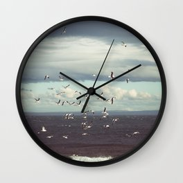 Seagulls flying Wall Clock