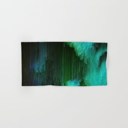 Aurora Borealis - Abstract Glitchy Pixel Art Hand & Bath Towel