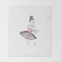 Pink Ballarina Throw Blanket