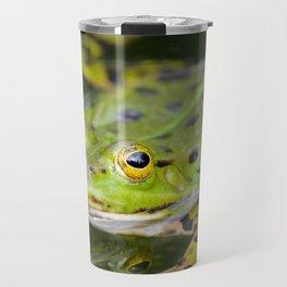 Green European Frog Travel Mug