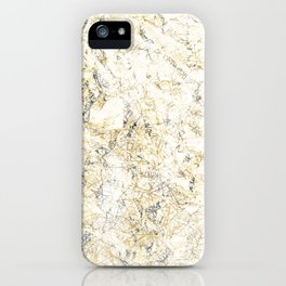 Gold abstract iPhone Case
