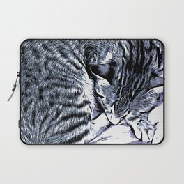 Cute Tabby Kitten Nap Laptop Sleeve