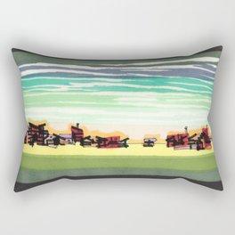 Railroad Town In The West Plains Of Nebraska 32 Rectangular Pillow