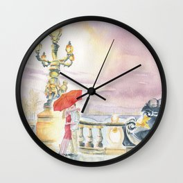 Love In The Rain Wall Clock