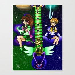 Fusion Sailor Moon Guitar #34 - Sailor Juptier & Sailor Uranus Canvas Print