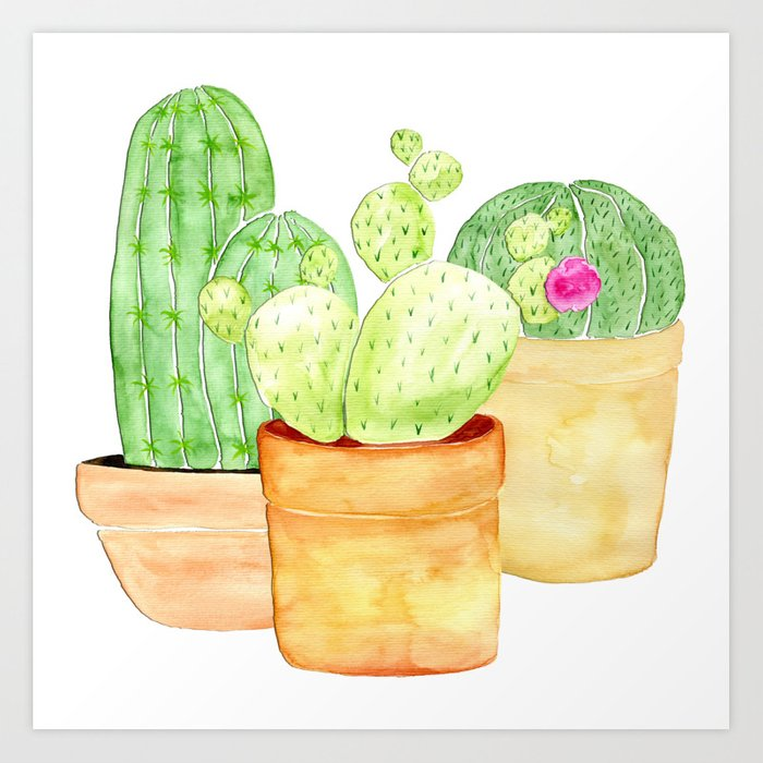 cactus friends Art Print