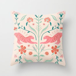 Pink simetric Throw Pillow