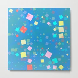 Squares mosaic Metal Print
