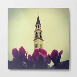 Flower Tower Metal Print