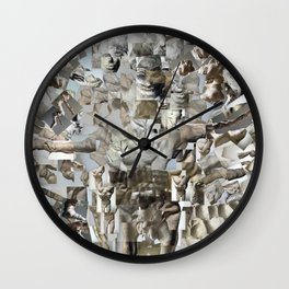 Leap - Sculpture Collage Photomontage Wall Clock