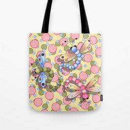 Dragonflies & Polka Dots Tote Bag